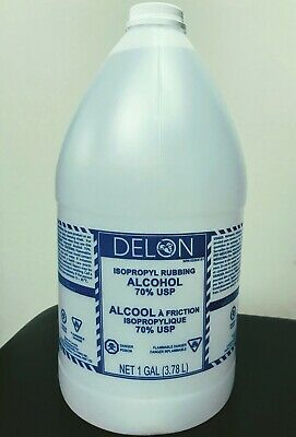 70% ISOPROPYL ALCOHOL,1 Gallon (128 Oz/3.78L) New & Sealed,Disinfectant Cleanser