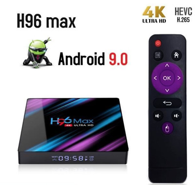 Android TV Box Android 9.0 h96max Smart TV BOX Dual Wifi 2Go+16Go 4K Multimédia