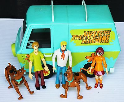Scooby Doo The Mystery Machine Flower Van Velma Shaggy Fred Figure Vintage LOT