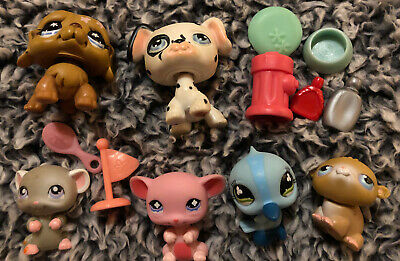 Littlest Pet Shop Mixed Lot Of Dog Bird Mouse With Extras