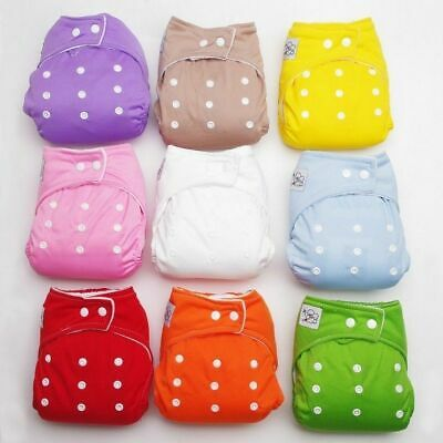 Adjustable Reusable Washable Breathable Toddle Baby Diaper Nappies Random Color