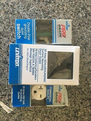LEVITON 30 Amp NON-GROUNDING Surface Mount Dryer Outlet Double Pull Outlet