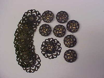 LOT of 8 FANCY DRAW KNOB WITH BACK PIECES