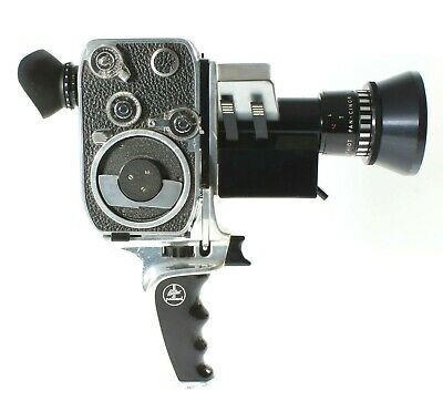 Paillard Bolex 8mm Movie Camera P3 SOM Berthiot Pan-Cinor 8-40 Reflex Zoom Lens