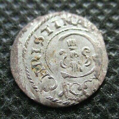 Old Silver Coin Of Livonia (Swedish Occupation) 1 Shilling Solidus Szelag (B)
