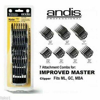 Andis Snap-On Blade Attachment Combs, 7-Comb Set #01380