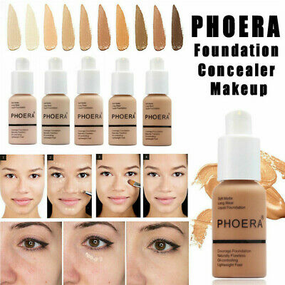 PHOERA Soft Matte Full Coverage Liquid Foundation Concealer Longlasting AU