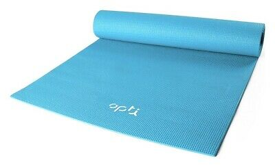 Blue Opti Basic Excersice Mat Nonslip Light Weight Portable For Yoga And Pilates
