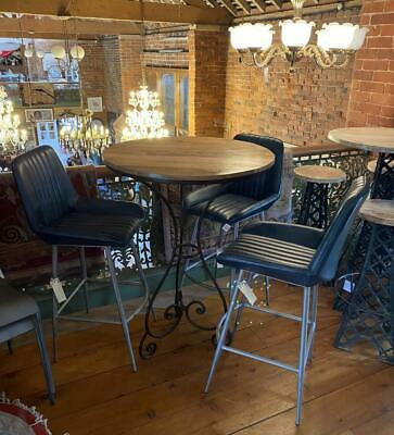 French style High Bistro Table - Kitchen / Bar / Cafe / Dining - Wood & Iron