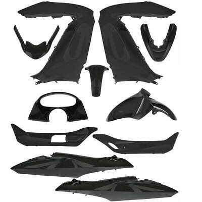 Set Fairings 11 Pieces Shiny Black Honda 125 Pcx 2010-2012