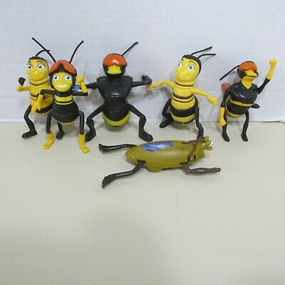 2007 2009 Mcdonalds The Bee Movie Bees Lot Set 6 Figures Toy