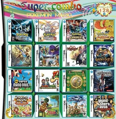 208 in 1 Game Games Cartridge Multicart DS NDS NDSL NDSi 2DS 3DS NEW Game Card