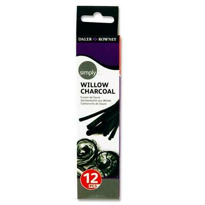 Box of 12 Willow Charcoal by Daler Rowney Simply