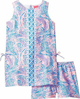 Lilly Pulitzer Girl's Mini Donna Tunic Top & Shorts Set Maybe Gator XL 12 14 NEW