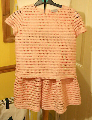 Matalan Girls  2 Piece Skirt And Top Pink size 13 years