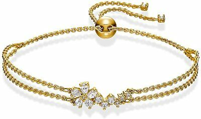 Swarovski Crystal Botanical Bracelet Chain Gold Size Medium 5535790.New In Box