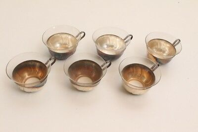 6 Bowle-Gläser Punch Bowl Cups Teacups 70er Years
