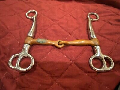 Stainless Steel Horse Mouth Bit Horse Mouth Piece Equestrian Snaffle Copper A9X7