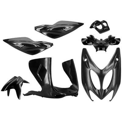 Set 7 Pieces Fairings Black Neutral Yamaha 100 YQ Aerox 2000-2003