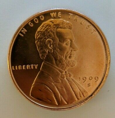 Commemorative LINCOLN WHEAT CENT 1 OZ Round .999 Copper Not Penny
