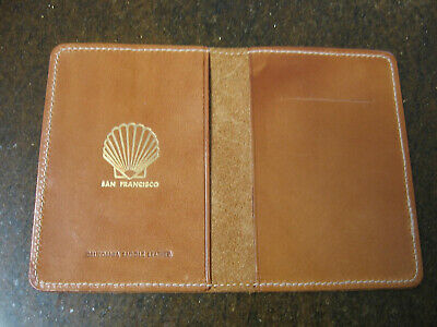 Vintage Shell Oil Co Leather Credit Card Wallet, Employee Owned, Very Rare