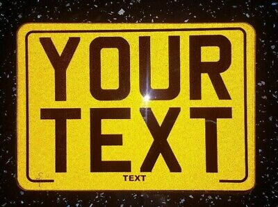 8x6 Novelty Text Motorcycle Kids Plate Novelty Bike Plate / Not Number Plate