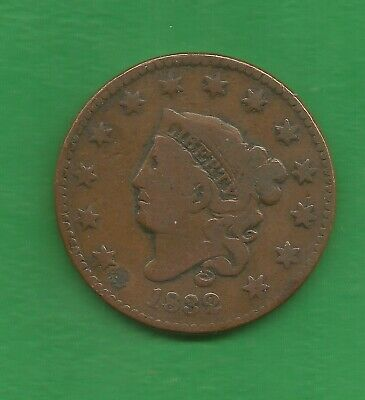 1832 Matron Head, Large Cent, Reverse Rotated - 188 Years Old!!