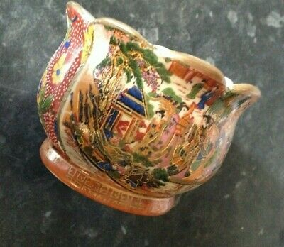 Chinese  cloisonne decorated / hand painted/ gilded bowl / signed