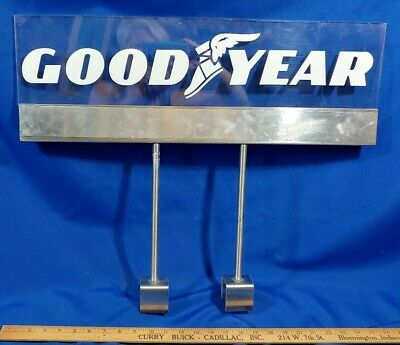 Goodyear Tires Wing Foot Stand Store Display Sign Advertising VTG 24x20 Service