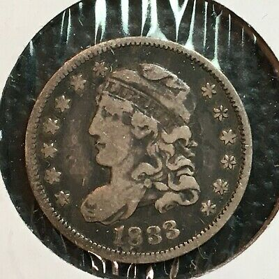 1833   Fine Capped Bust  Half Dime