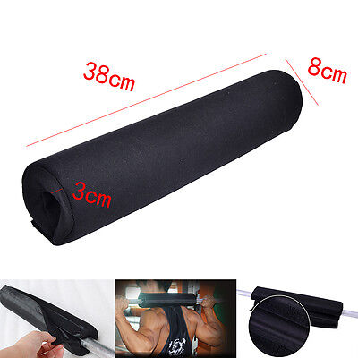 New Barbell Pad Mat Gel Supports Weight Lifting Pull Up Grippers Squat JE