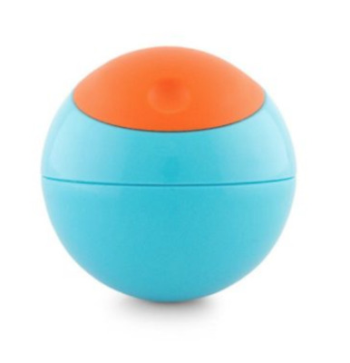 BOON Snack Ball Snack Container, 8oz Blue/Orange (Add-On Item = FREE Shipping)