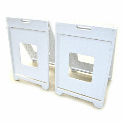 """(Lot of 2) Plasticade Simpo Sign II White Portable Frame 22""""x 28"""" Display Stands"""