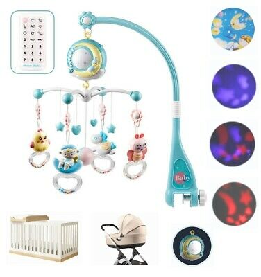 Baby Crib Mobile Musical Bed Bell With Controller Music Night Light Newborn Toy