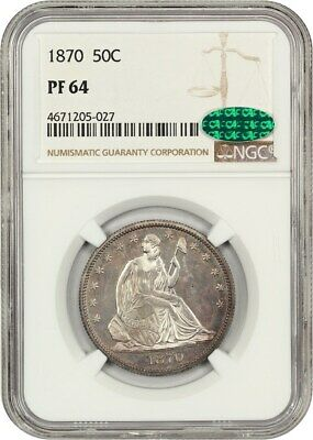 1870 50c NGC PR 64 - Liberty Seated Half Dollar - Low Mintage Proof