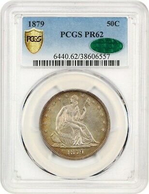 1879 50c PCGS/CAC PR 62 - Low Mintage Proof - Liberty Seated Half Dollar