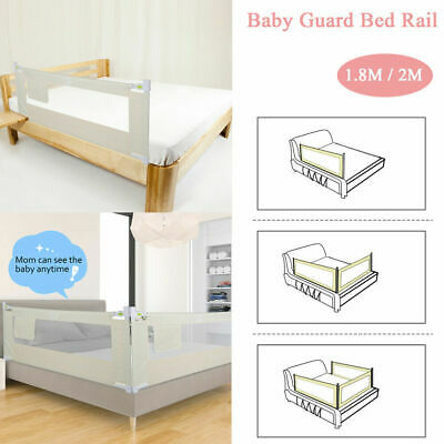 """59""""-79"""" Foldable Toddler Bed Rail Baby Crib Side Safety Guard Kid Infant Bedrail"""