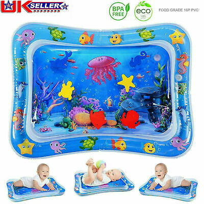 Large Inflatable Water Play Mat Infants Baby Toddlers Kid Perfect Fun Tummy Time