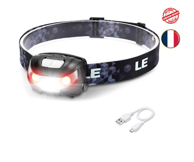 LAMPE FRONTALE LED Rechargeable Puissante Torche Ultra Léger
