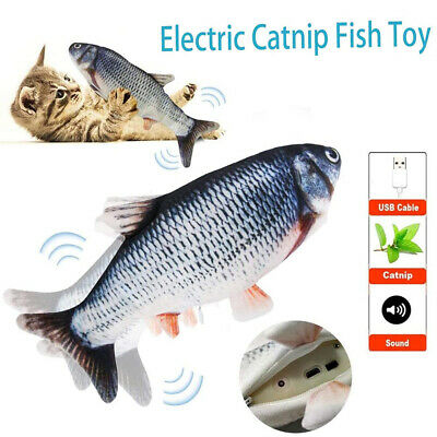 Electronic Pet Toy USB Charging Simulation Fish Toys for Chewing Playing Biting