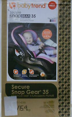 Babytrend Infant Car Seat 4-35Lbs Secure Snapgear 35