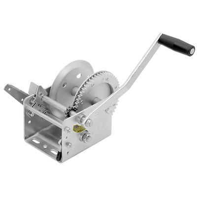 """Fulton 142411 2,600 Pound Dual 2 Speed Trailer Winch with 10"""" Hand Brake Handle"""
