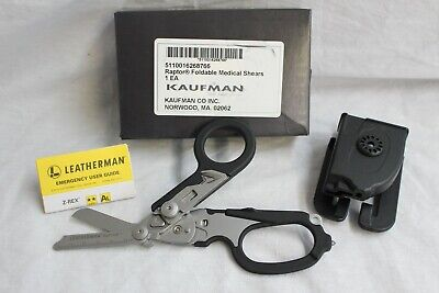 Leatherman Raptor Foldable Medical Shears W/ Holster - New In Box - Black