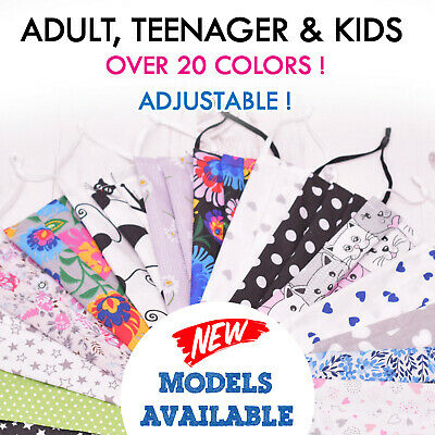 Cotton Mouth Face Mask  Double  Layers Washable Reusable Adult Uk Seller