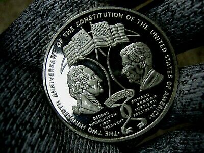 2 oz .999 Silver Anniversary of the Constitution U.S. Silver Coin Proof 1987