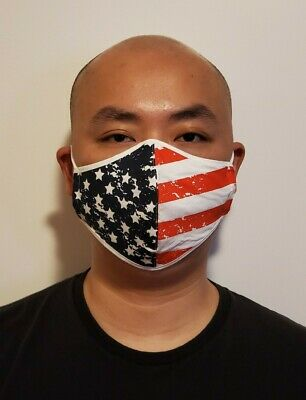 American Flag Face Mask Recycle Reusable Washable Polyester Double Layers