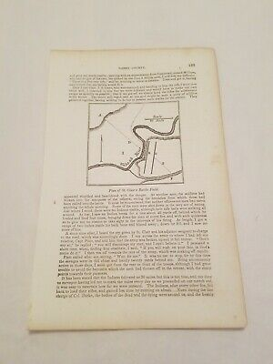 CR22) Plan of St. Clair's Battle Field Map Darke County Ohio 1858 Engraving