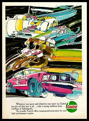 "1970 Castrol Motor Oil Racing Tradition ""From Lemans To Indianapolis"" Print Ad"