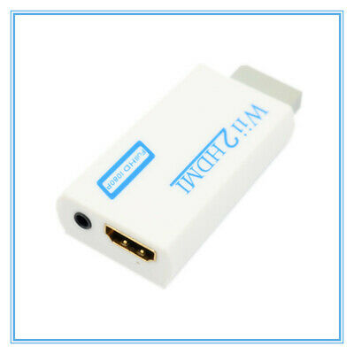 Convertidor profesional de Wii a HDMI Adaptador de 3.5mm Salida de audio y video