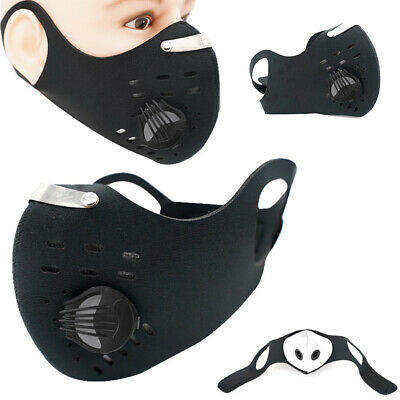 Face Mask Cycling Anti Pollution Activated Carbon Sport & Replaceable Filters